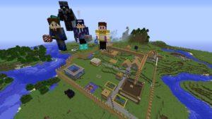 Team Minecraft 2015 and their village.